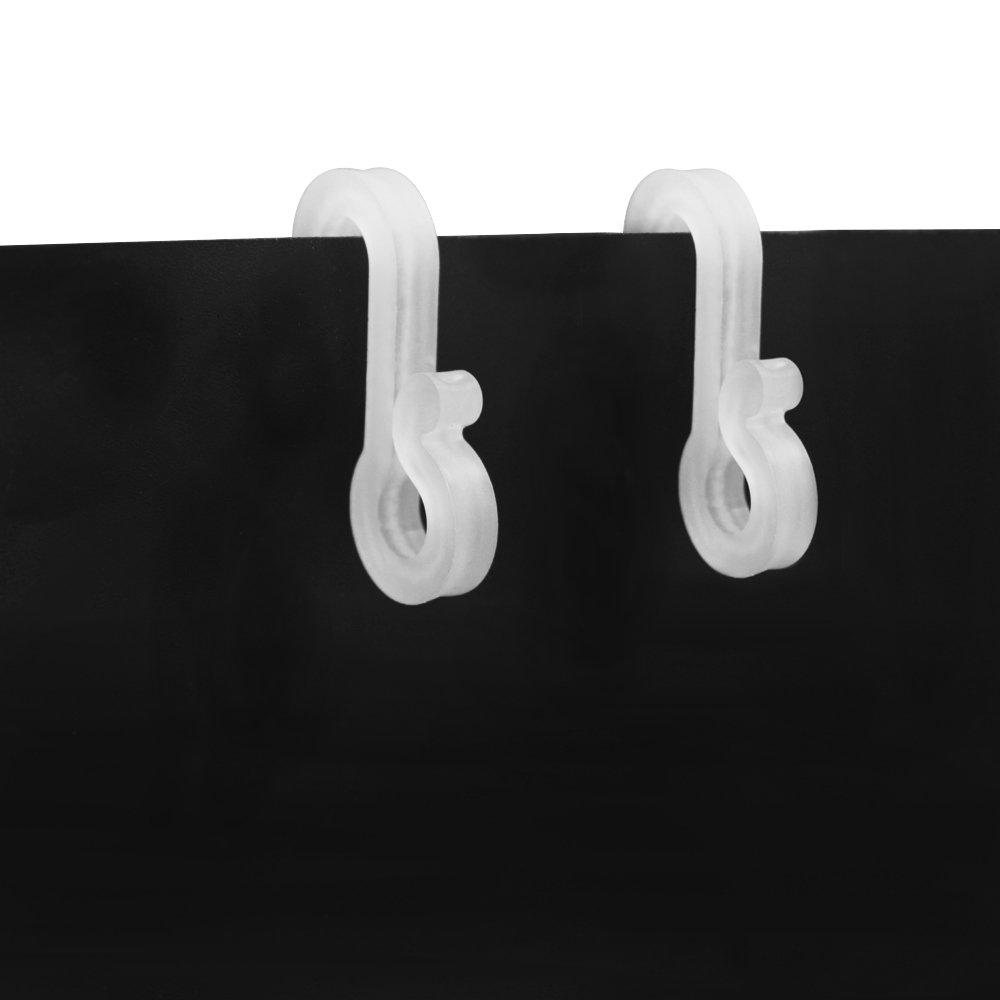 Meetory - Ganchos de plástico para cortar al aire libre, 50 unidades, ganchos de gancho, ganchos de clip para decoración de Navidad, luces exteriores de ...