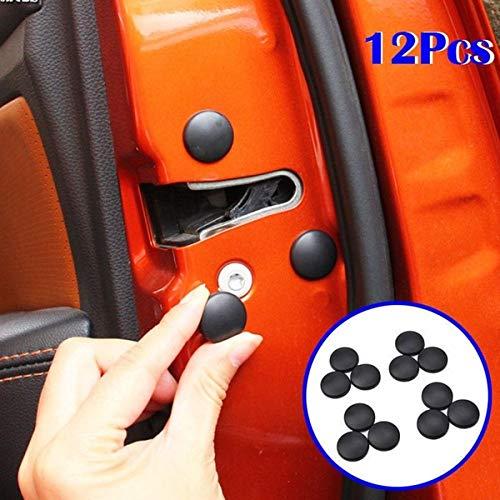 TOOGOO 12Pcs New Trim Stickers Practical Cover Car Interior Anti-Rust Cap Door Lock Screw Protector,Black by TOOGOO (Image #7)