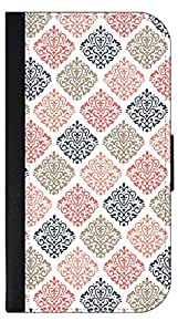 04-Colorful Damasks Pattern- Wallet Case for the SAMSUNG GALAXY S3 i9300 ONLY!!!!!-PU Leather and Suede Wallet Iphone Case with Flip Cover that Closes with a Magnetic Clasp and 3 Inner Pockets for Storage