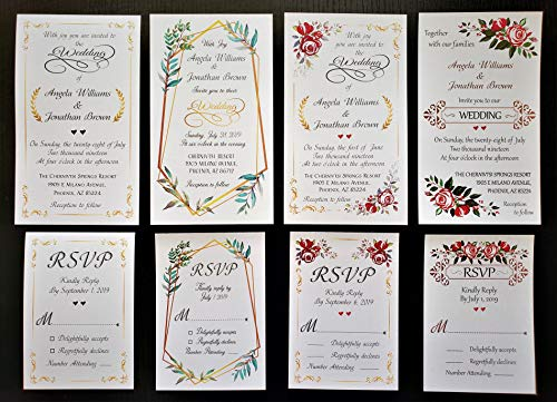 Custom Printed Inserts for Tada Cards Wedding Invitation Pocket-Folds