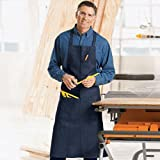 2 COMMERCIAL GRADE NAVY BLUE DENIM APRON WITH 1 PEN AND HAND POCKET