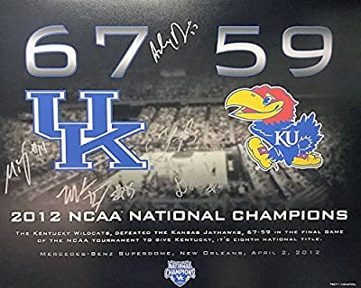 2012 Starting 5 Autographed Kentucky Wildcats 16x20 Photograph - Certified Authentic