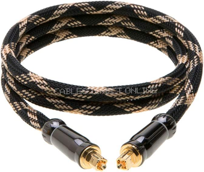 SatMaximum Premium Toslink Cable 3ft with Mesh for Lower Loss of Signals High Speed Optical Fiber Audio Cable