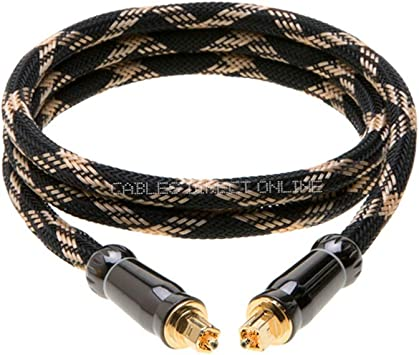- 50Ft. S//PDIF Toslink Digital Optical Audio Cable Wire DTS DOLBY 3Ft