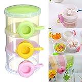 Portable Cute Baby Formula Milk Powder 3 Compartment Dispenser Container Storage