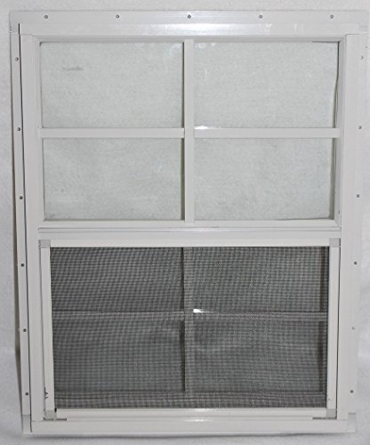 12 X 18 Playhouse Window White J-channel, Chicken Coop Window, Shed Window - Sliding Window