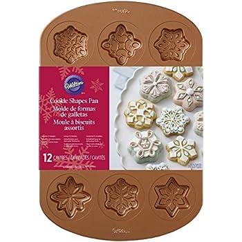 Wilton 2105-2502 12 Cavity Copper Colored Snowflake Cookie Pan, Copper