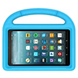 MENZO Kids Case for Fire 7 2017, Light Weight Shockproof Handle Stand Kids Friendly Case for Fire 7 inch (2017 released), Blue