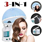 SUPER DEAL Portable 3-in-1 Hair and Facial Steamer with Bonnet Hood Humidifier Hot Mist Moisturizing for Personal Care Use