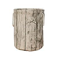 Jacone Stylish Tree Stump Shape Design Storage Basket Cotton Fabric Washable ...