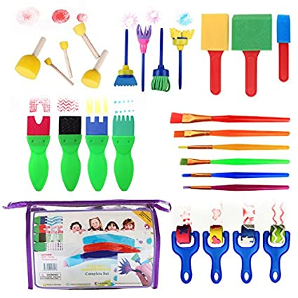 Professional Sale 12pcs Childrens Art Early Learning Drawing Mini Flower Sponge Brush School Diy Crafts Painting Tools Supplies Toys & Hobbies Drawing Toys