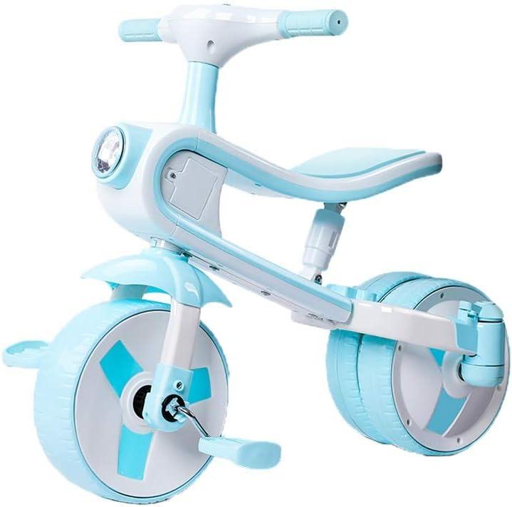 LRHD 2 en 1 puede montar y tobogán, triciclo adaptado for niños de 2-5-bebé plegable triciclo o regalo de cumpleaños, Triciclo de seguridad, Apto for niños de bicicletas Adecuado for niños y niñas