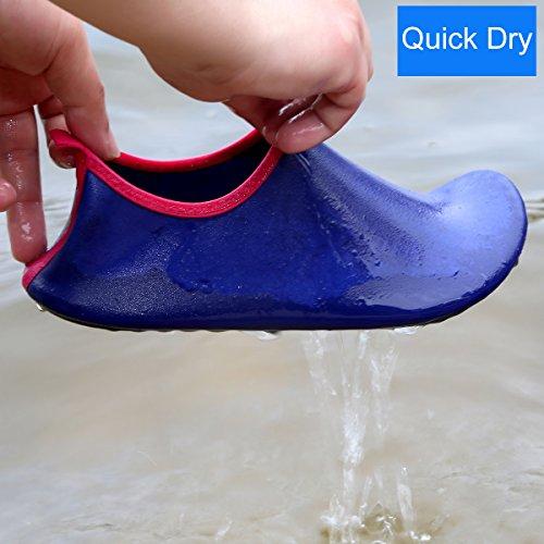 D'eau Sports Aquatique Chaussons Plage Bleu Chaussures Unisexe Qimaoo De wqx0FAwf