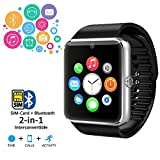 Indigi GT8-SV-CP03 Smart Watch Phone GSM + Bluetooth Sync & Camera - Silver