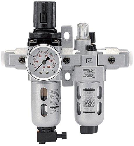 Draper 24326 1/4 BSP Combined Filter Regulator Lubricator Unit (FRL) by Draper