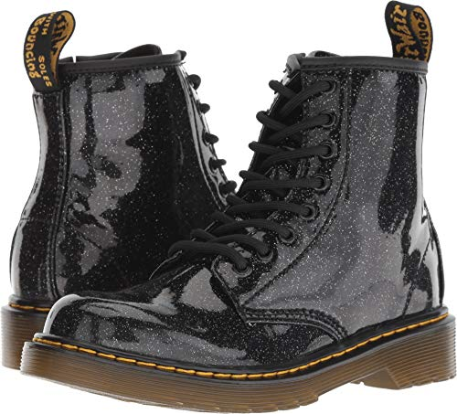 Dr. Martens Kid's Collection Girl's 1460 Patent Glitter Junior Delaney Boot (Little Kid/Big Kid) Black Coated Glitter 10 M UK M for $<!--$59.95-->
