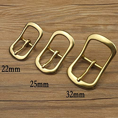 - BeesClover DIY Leathercraft Hardware 1''(25mm) Solid Brass Belt Buckle Center Bar Buckle 32mm