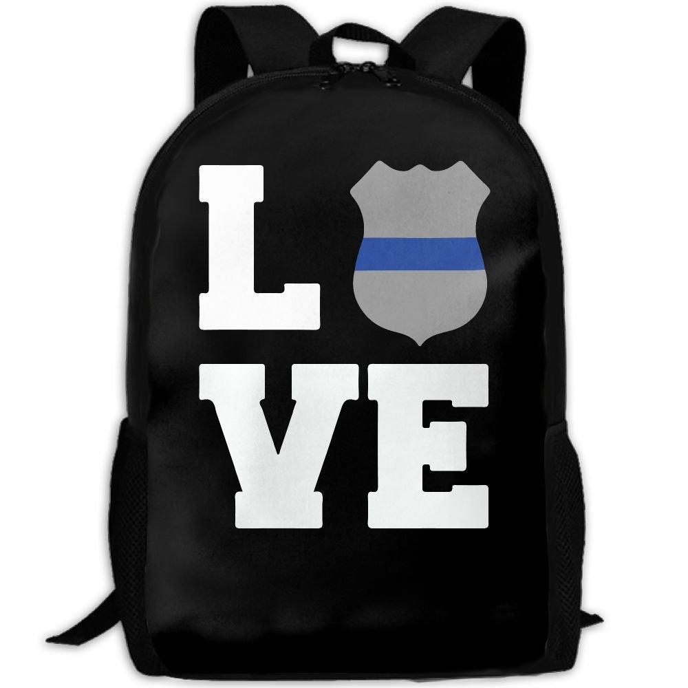 41c1fa02e532 Police Love Thin Blue Line Interest Print Custom Unique Casual ...