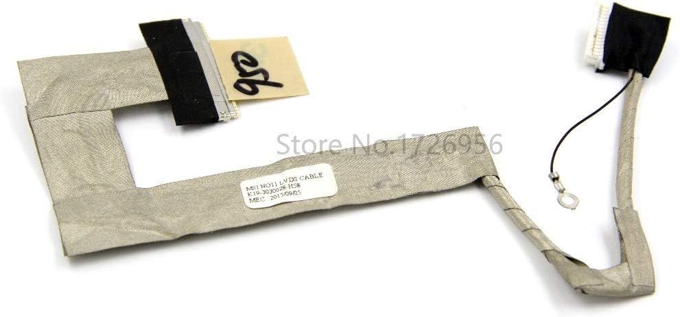 Cable Length: NA ShineBear Original LCD Screen Video Cable K19-3030028-H58 for MSI Wind U100 U90 U110 U115 U120 Laptop