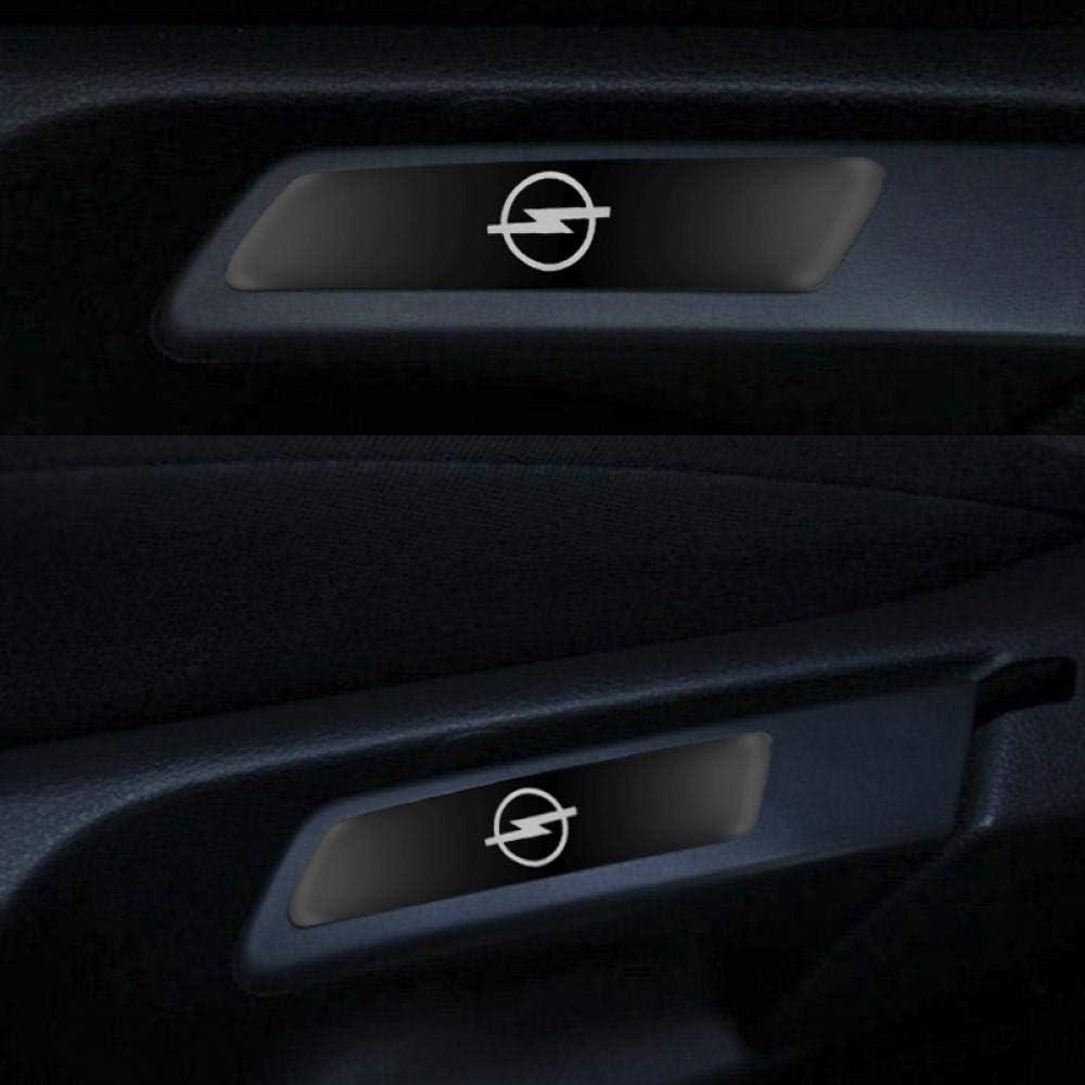 Protettore Battitacco Pedale Soglia Graffi Adesivo Decorativo Accessori YCGLX 4 Pezzi per Opel Zafira a b Astra h g j k f Mokka Corsa b c d Vectra Fibra di Carbonio Auto Davanzale Portiera