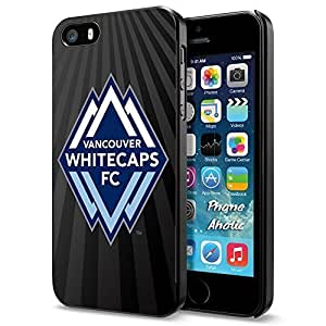 diy zhengSoccer MLS VANCOUVER WHITECAPS FC SOCCER CLUB Logo, Cool iphone 5c Smartphone Case Cover Collector iphone Black