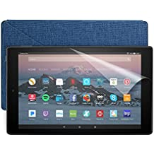 Fire HD 10 Essentials Bundle with Fire HD 10 Tablet (32 GB, Black), Amazon Cover (Marine Blue) and Screen Protector (Clear)