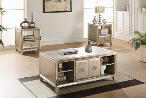 - Acme Furniture 81200 Voeville Coffee Table with Lift Top, Antique Gold