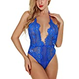 Sexy Lingerie for Women Charming Sex Appeal Lures Lacy Lashes Lace Condole Wears Sexy Underwear Blue
