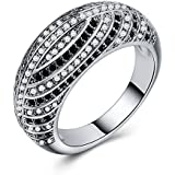 Elegant Women Jewelry 925 Silver Round Cut White Sapphire Wedding Ring Size 6-10 (9)