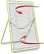 Rukket Tennis Practice Rebounder Net   Rebound Wall for Tennis & Racquet Sports Ball   Portable Backboard