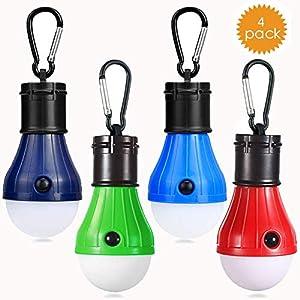 JTENG Camping LED Campinglampe mit Karabiner Camping Lantern Zeltlampe Glühbirne Set Camping Lampen wasserdicht Rucksack…