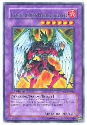 YuGiOh Duelist Aster Phoenix Elemental Hero Phoenix Enforcer DP05-EN012 Rare