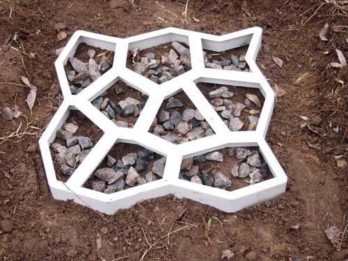 Pavimentos De Hormigón molde molde moldes de plástico 60 x 60 x 6 cm piedras hormigón o cemento jardín Patio entrada Pathmate pavimento fácil de usar Patio ...