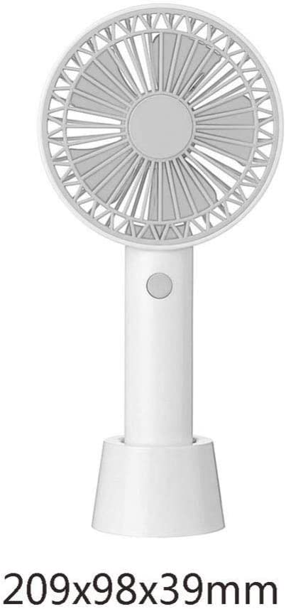 ASDAD Portable Handheld USB Lace Fan with Mobile Phone Holder Detachable Base Low Noise 3 Speeds Mini Size Desktop Fan for Home Office Outdoor Travel,Pink,Blue
