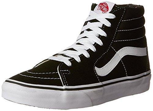 Vans Men's Sk8-Hi(Tm) Core Classics (42-43 M EU / 11 B(M) US Women / 9.5 D(M) US Men, Black/Black/White Canvas)