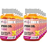 St.Botanica Fish Oil 1000 mg (Double Strength) -600 mg Omega 3 - 60 Softgels- Pack Of 10