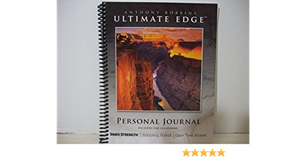 Ultimate edge personal journal anthony robbins amazon books fandeluxe Images