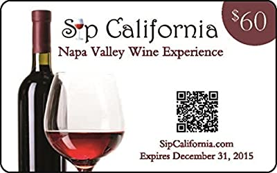 2015 Sip California Napa Valley Wine Experience Gift Card