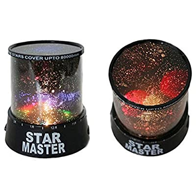 YOOYOO 5V Fabulous Starry Projector DIY Star Projector Moon Lamp for Kids Bedroom