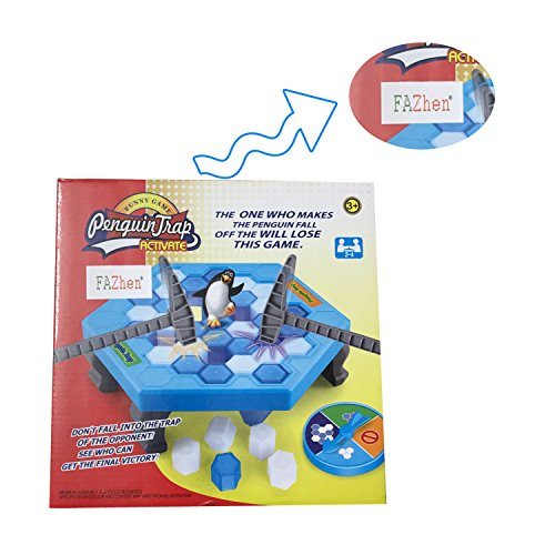 - FAZHEN Crashed ice game Puzzle table games penguin ice pounding penguin ice cubes save penguin knock ice block wall toys desktop paternity interactive game