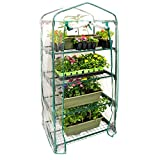 "U.S. Garden Supply Premium 4 Tier Greenhouse, 27"" Long x 19"" Wide x 63"" High - Grow Seeds & Seedlings, Tend Potted Plants"