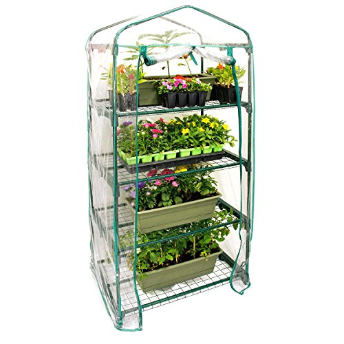 "U.S. Garden Supply Premium 4 Tier Greenhouse, 27"" Long x 19"