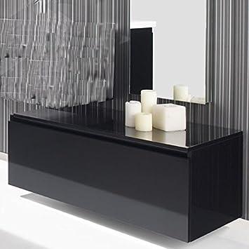 meuble bas de rangement 1 tiroir 90x50 cm laqu brillant artcolor couleur