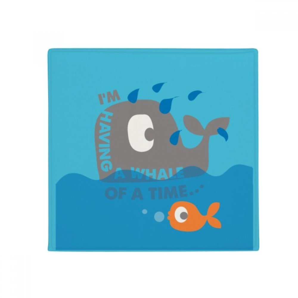 DIYthinker The bluee Whale Huge Cartoon Illustrate Anti-Slip Floor Pet Mat Square Home Kitchen Door 80Cm Gift