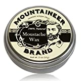 Mustache Wax by Mountaineer Brand - 2 oz Tin, All-Natural, No Residue, Clear and Easy to Use