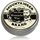 Mustache Wax by Mountaineer Brand - All-Natural, No Residue, Clear and Easy to Use, 2 oz Tin