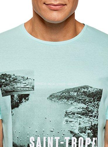 shirt Turchese Ultra Stampa Oodji 7379p Uomo Con T tgzaqS