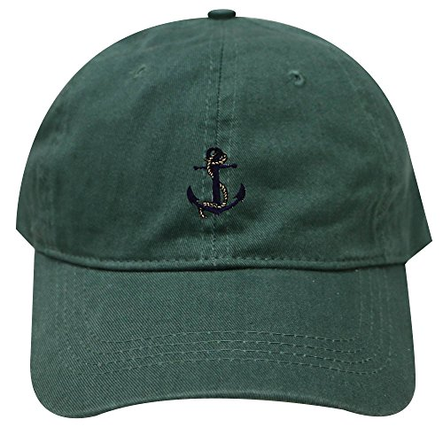 City Hunter C104 Anchor with Rope Cotton Baseball Dad Cap 26 Colors (Hunter Green) ()