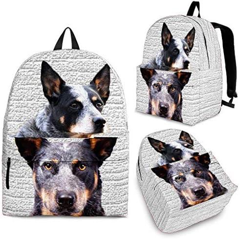 Breedink Australian Cattle Dog Print Backpack / Breedink Australian Cattle Dog Print Backpack