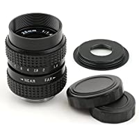 Pixco 25mm F1.4 CCTV Lens for C Mount Camera + 16mm C Mount Lens to Fujifilm X Camera Lens Adapter